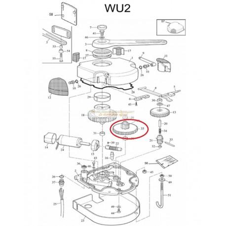 Mhouse Pignon intermédiaire WU2