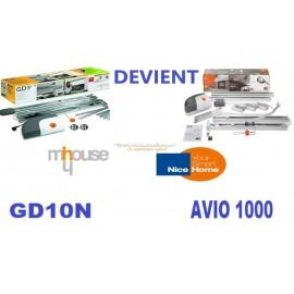 Mhouse GD10N Motorisation porte de garage remplacer par le NICE HOME AVIO 1000